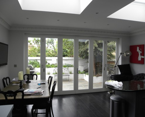 Kitchen to garden door design by All Seasons limited
